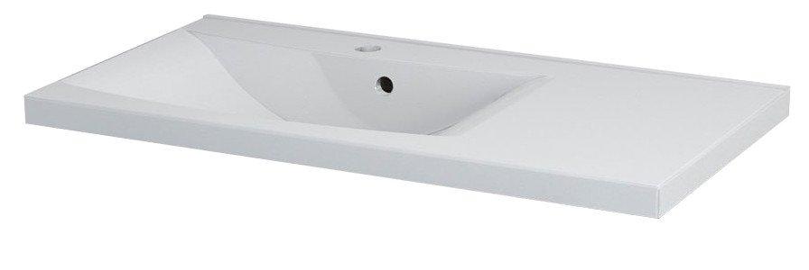 LUCIOLA umyvadlo 90x48cm, litý mramor, bílá, levé 50093