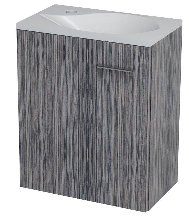 LATUS II umyvadlová skříňka 41,6x50x25cm, zebráno tmavé 55581