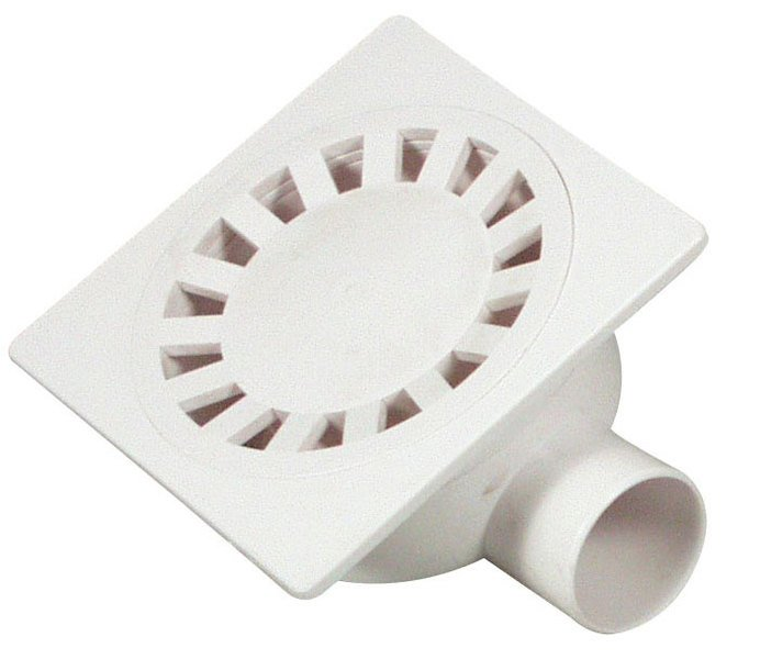 Podlahová vpusť 149x149, odpad 50mm, bílá SI50000