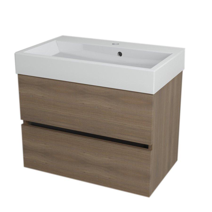LARGO umyvadlová skříňka 67x50x41cm, ořech bruno LA703