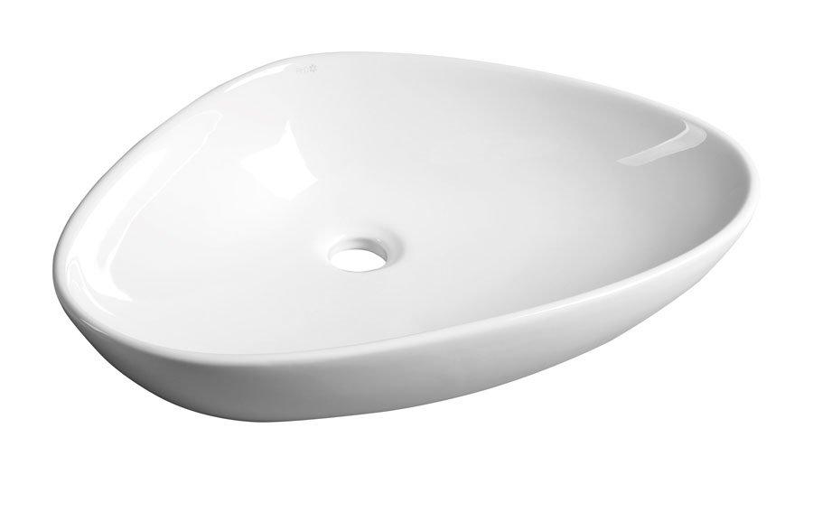 TERUEL keramické umyvadlo 58,5x14x39 cm, na desku BH7007