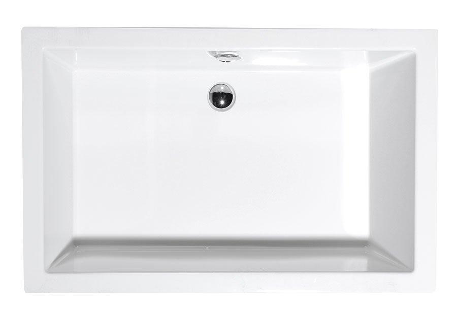 DEEP 110x75 hluboká sprchová vanička 110x75x26cm, bílá s podstavcem 72883