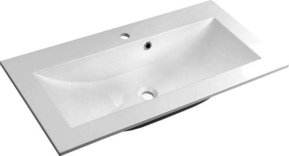 YUKON umyvadlo 70x45cm, litý mramor, bílá YU070