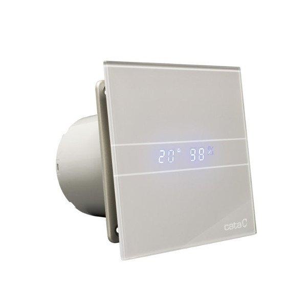 E-100 GSTH koupelnový ventilátor axiální s automatem, 8W, potrubí 100mm,stříbrná 900600