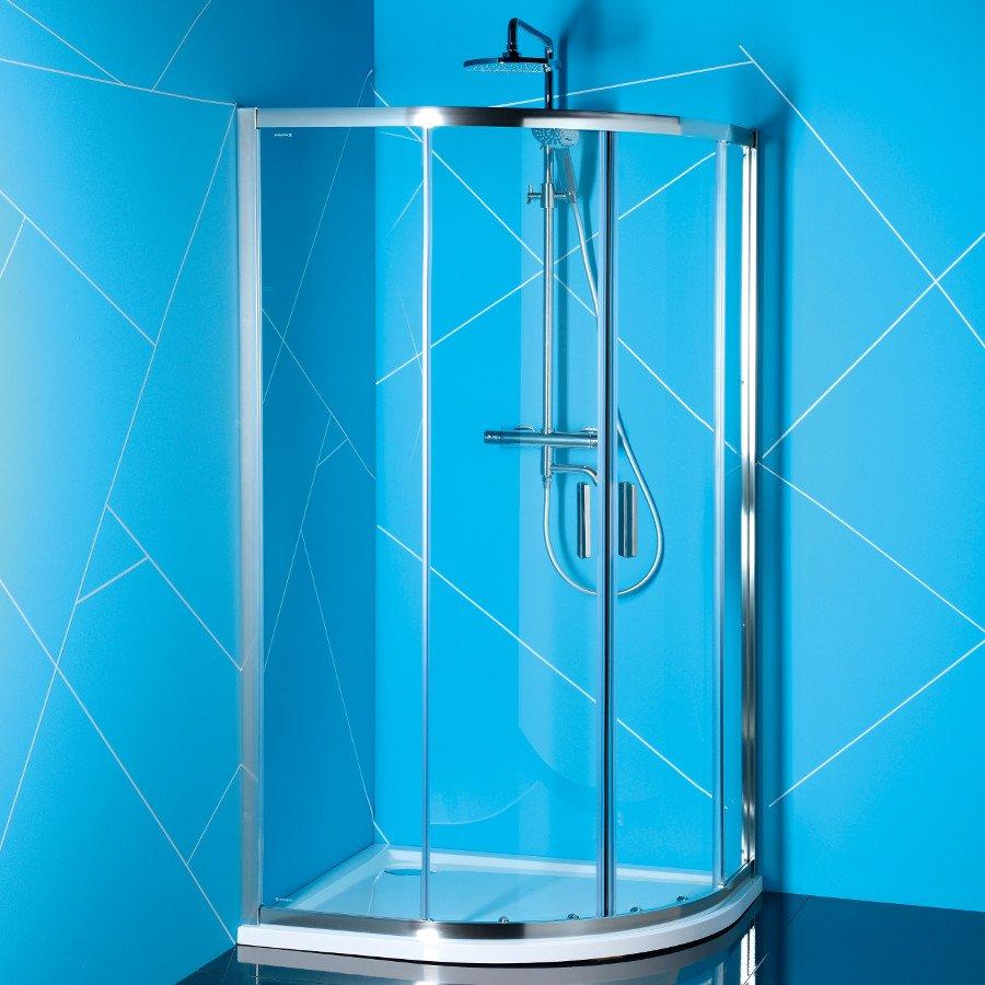 EASY LINE čtvrtkruhová sprchová zástěna 900x800mm, čiré sklo EL2815