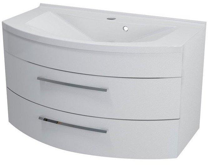 JULIE umyvadlová skříňka 90x50x50cm, 2 zásuvky, bílá 59905