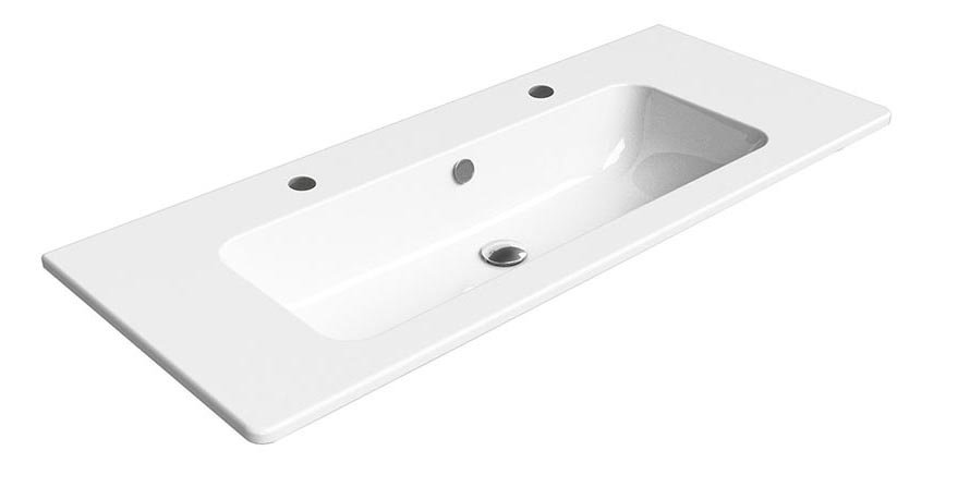 PURA keramické umyvadlo 120x50 cm, 2 OTVORY, ExtraGlaze 8824211