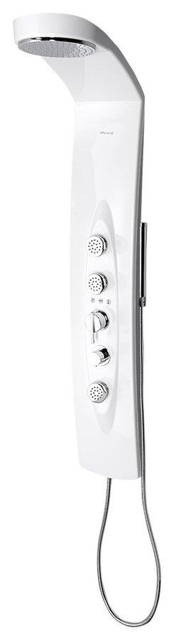 MOLA sprchový panel 210x1300mm s termostat. baterií, rohový 80372