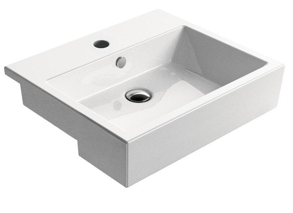 KUBE umyvadlo polozápustné 55x47 cm, ExtraGlaze 8934111