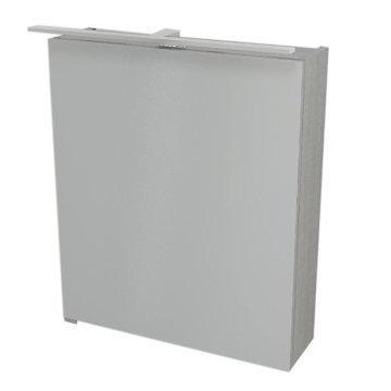 RIWA galerka s LED osvětlením, 60x70x17 cm, dub stříbrný RW064