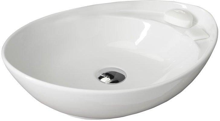 BEVERLY keramické umyvadlo 56x37x17 cm, na desku, bez přepadu W040701