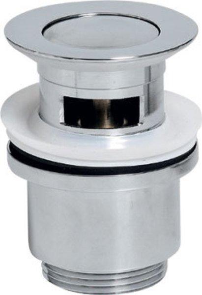 Uzavíratelná kulatá umyvadlová výpusť kliklak, malá zátka, chrom CV1008