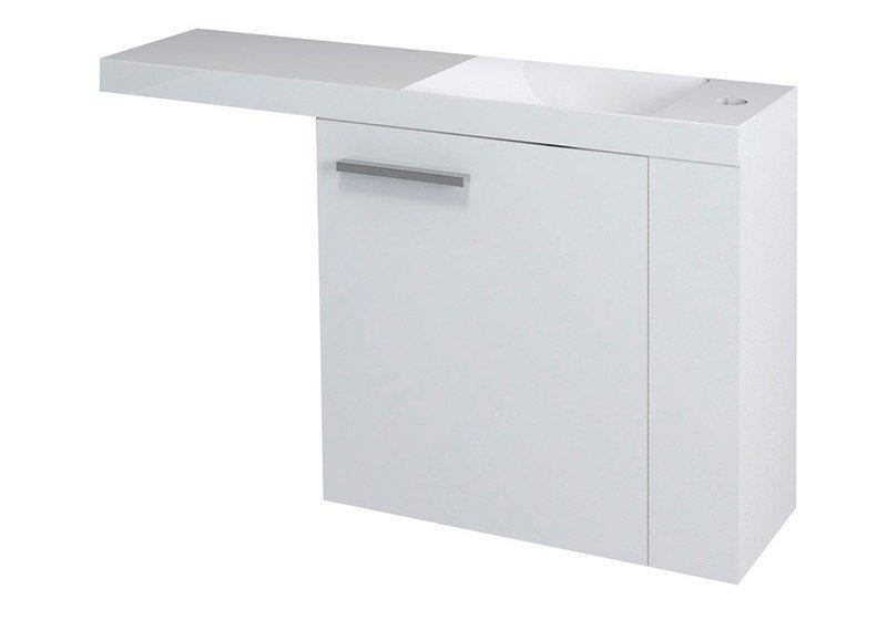 LATUS VI umyvadlová skříňka 50x50x22cm, pravá, bílá 55830