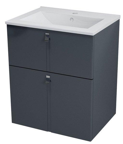 MITRA umyvadlová skříňka 59,5,5x70x45,2 cm, antracit MT062