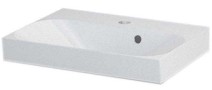 JOY umyvadlo 50x37cm, litý mramor, bílé FDT-537