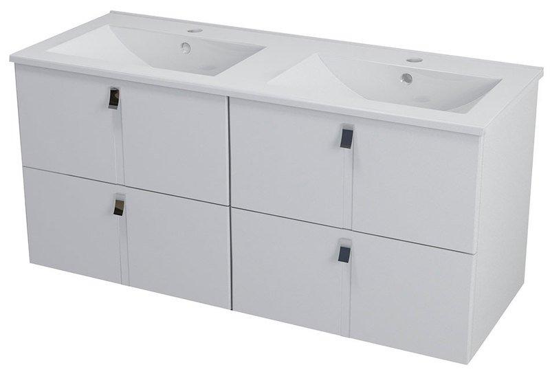 MITRA dvojumyvadlová skříňka 119,6x55x45,2 cm, bílá MT121