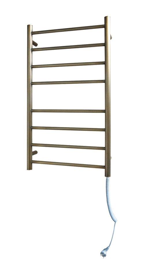 REDONDO Elektrický sušák ručníků, kulatý, 500x900 mm, 75 W, bronz ER320