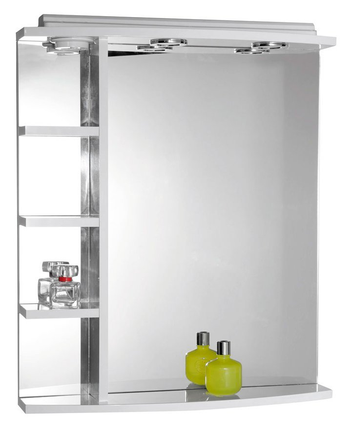 KORIN zrcadlo s osvětlením a poličkami 52x70x15cm 57355