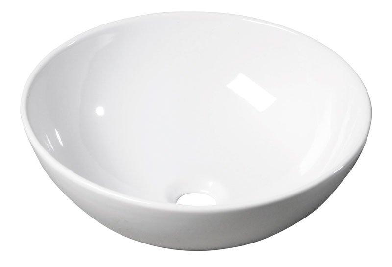 RONDA keramické umyvadlo, průměr 41cm, na desku (7702) 10AR65041
