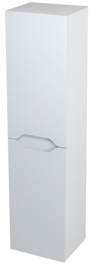 WAVE skříňka vysoká s košem 35x140x30cm, pravá, bílá WA246P