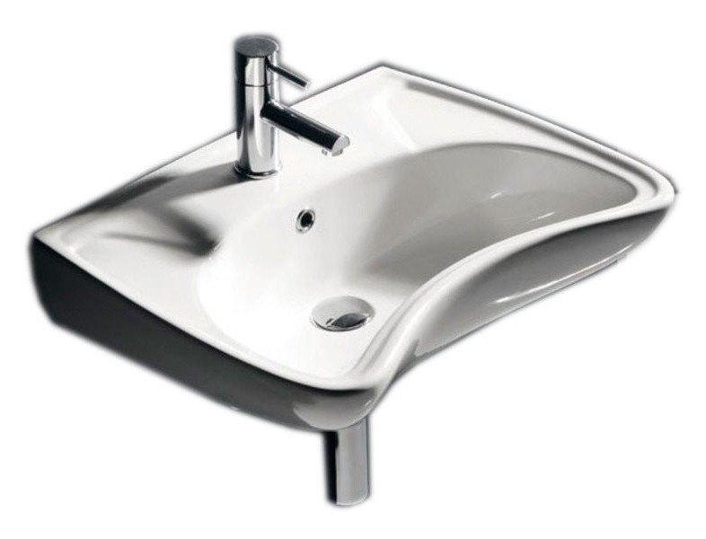 DISABLED keramické umyvadlo 59x45,5cm, pro tělesně postižené (3001) 10TP60060