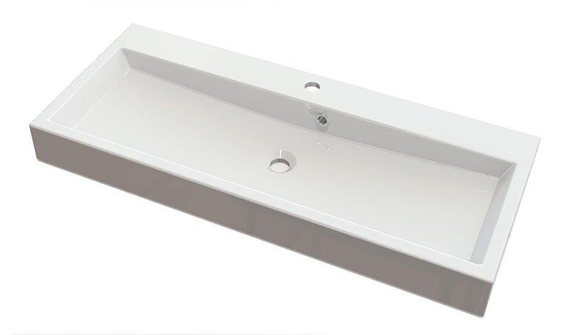 ORINOKO umyvadlo 100x42cm, litý mramor, bílá OR100