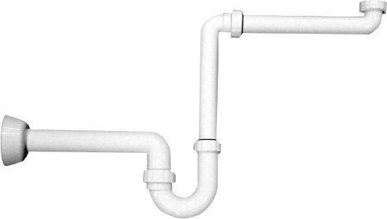 Umyvadlový sifon šetřící místo 1'1/4-40mm, bílá 2126.054.6