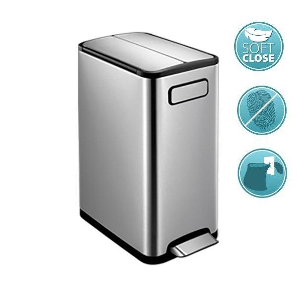ECOFLY odpadkový koš pedálový 30l, Soft Close, nerez mat DR630