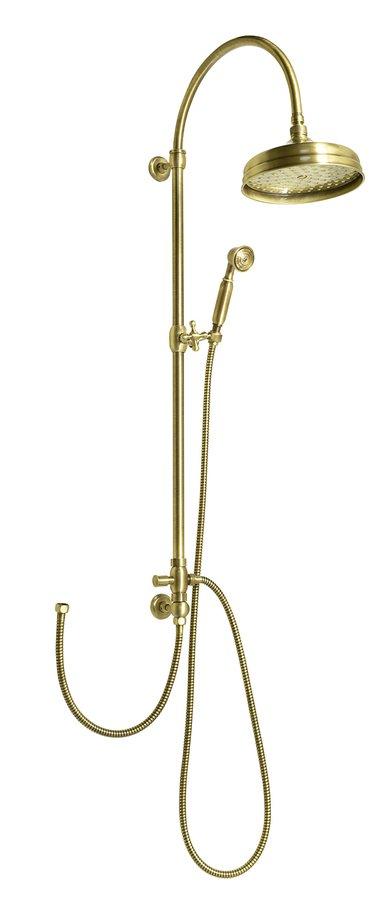 VANITY sprchový sloup s připojením vody na baterii, retro, bronz SET066