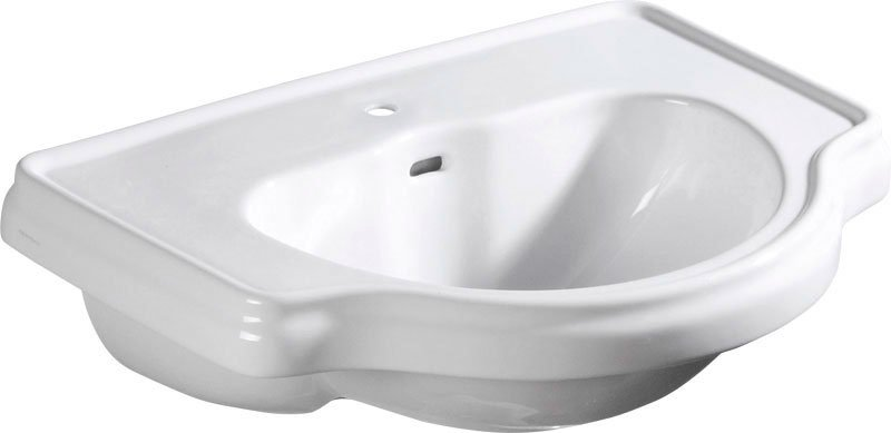 RETRO keramické umyvadlo 62x45,5cm, zápustné 103001