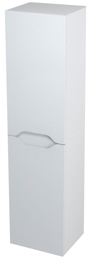 WAVE skříňka vysoká s košem 35x140x30cm, levá, bílá WA241L