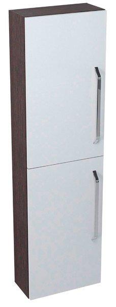 KALI skříňka vysoká 40x140x20cm, wenge/bílá 56087LP