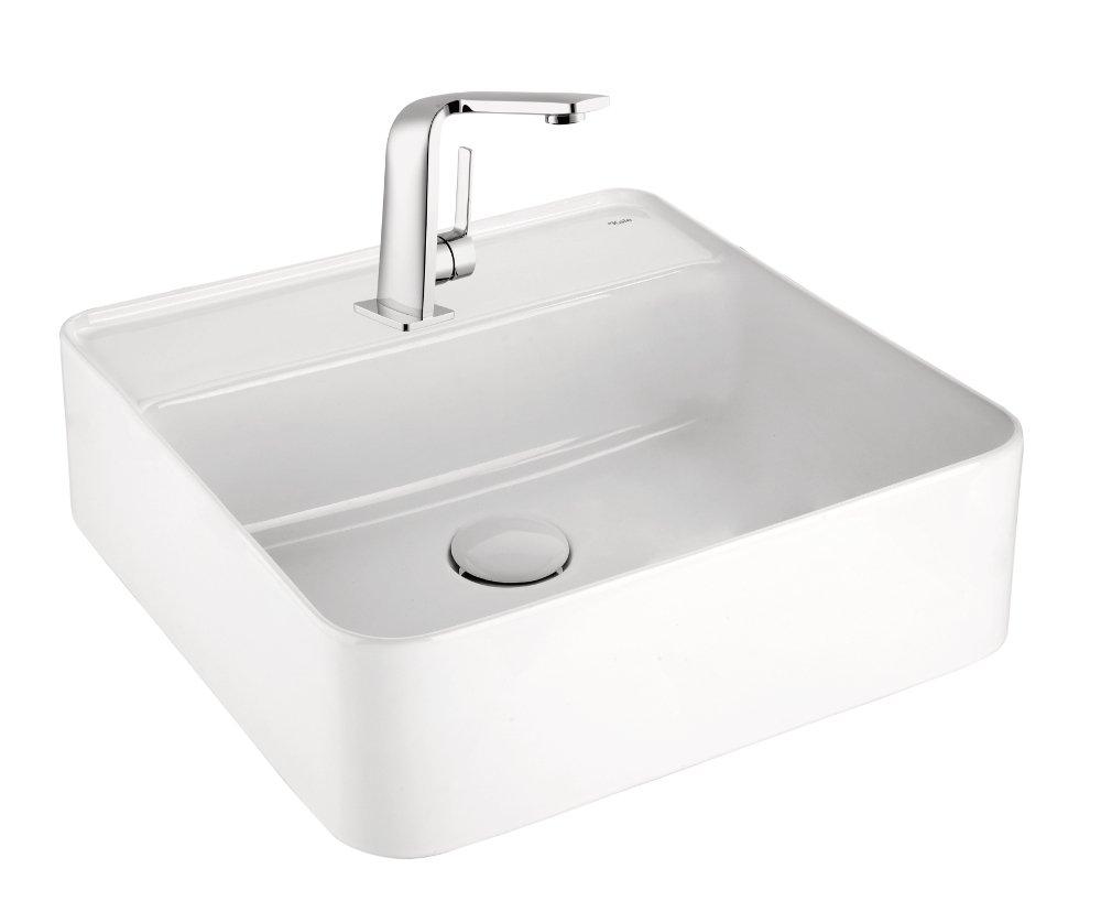 SQUARE umyvadlo na desku 45x45 cm, bílá 71102107