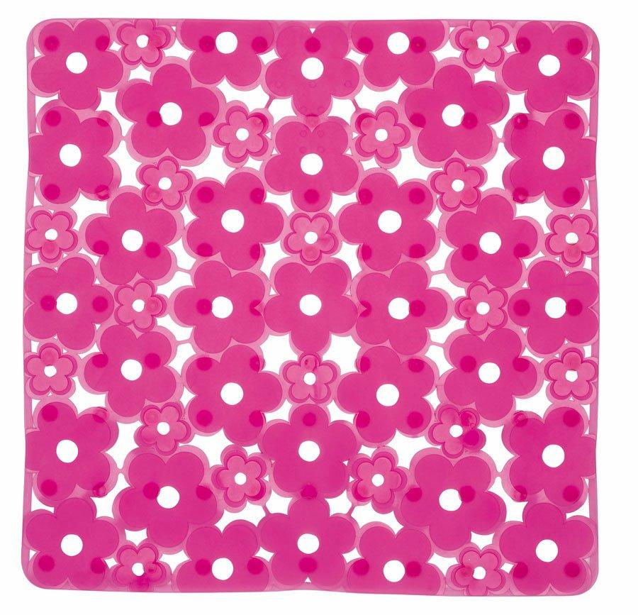 MARGHERITA podložka do sprchového koutu 51,5x51,5cm s protiskluzem, PVC, růžová 975151P0