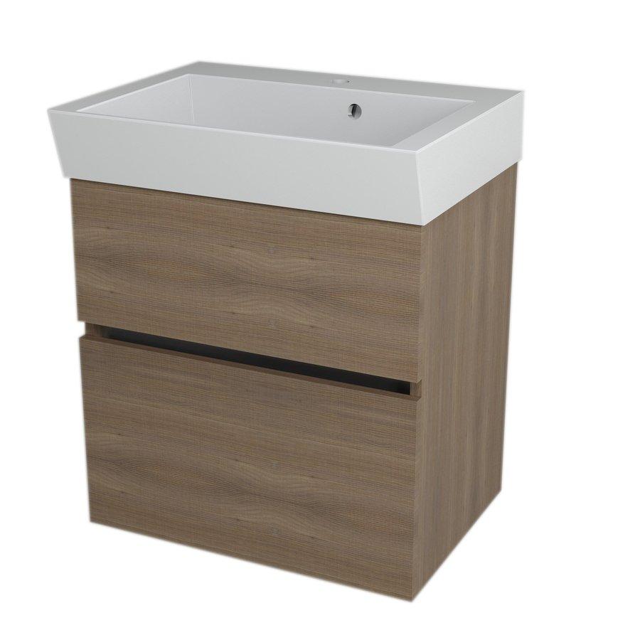LARGO umyvadlová skříňka 59x60x41cm, ořech bruno LA603