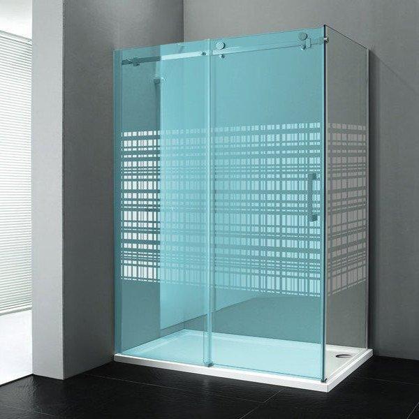 DRAGON boční stěna 900mm, sklo CANVAS, levé GD7990SL