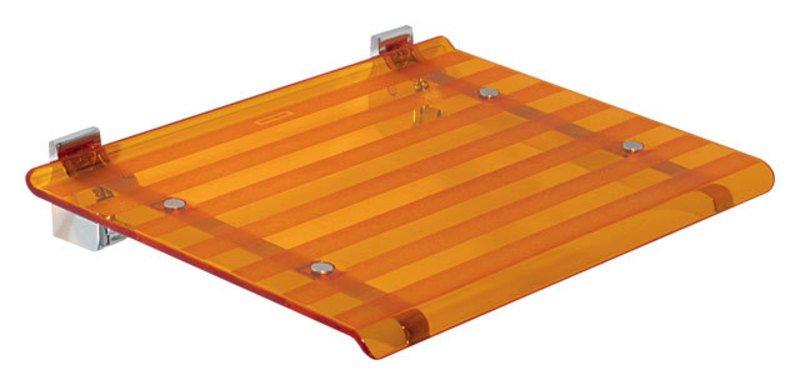 LEO sprchové sedátko 40x31cm, oranžová 5368A