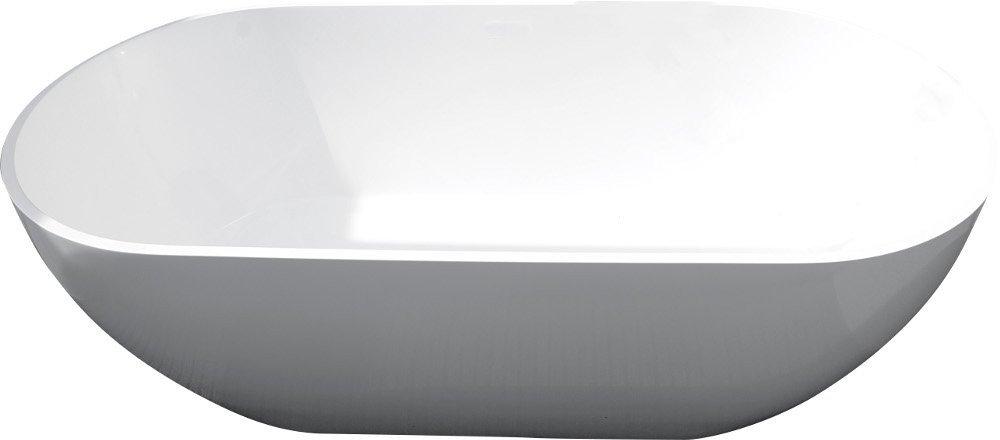 REDUTA volně stojící vana 170x80x55cm, litý mramor, bílá 72842