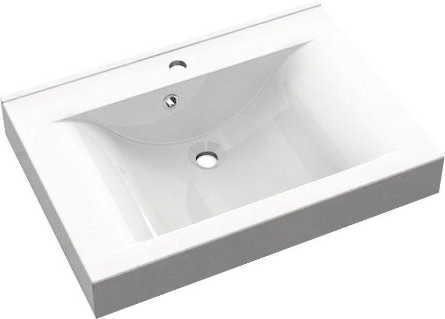 FLAVIA umyvadlo 60x50cm, litý mramor, bílá 68061