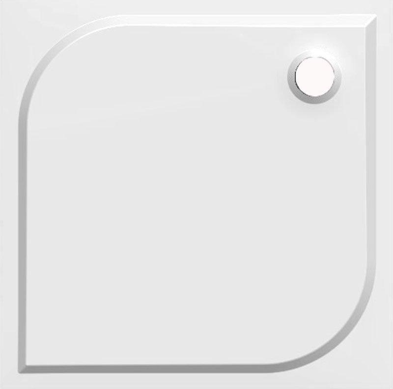 KARRE 90 sprchová vanička z litého mramoru, čtverec 90x90x3 cm HQ009