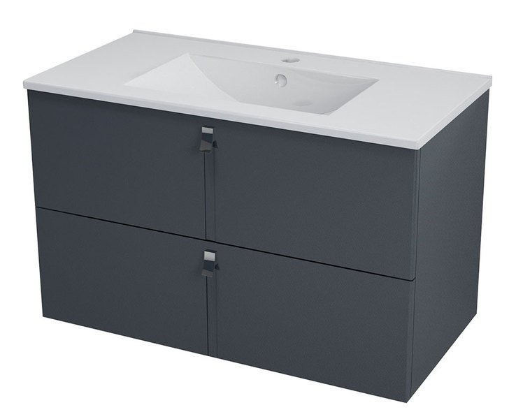 MITRA umyvadlová skříňka 89,5x55x45,2 cm, antracit MT092