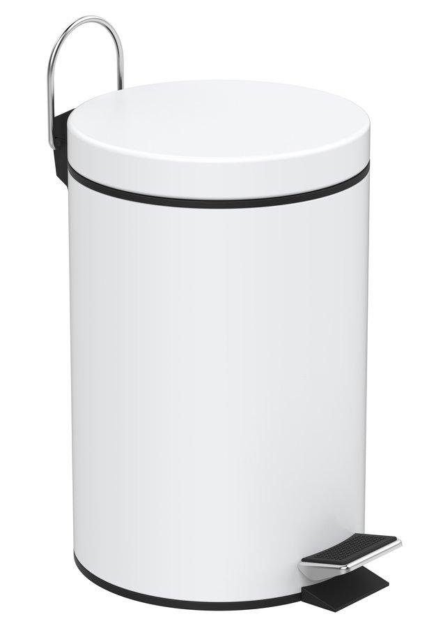 SIMPLE LINE odpadkový koš kulatý 3l, bílá 28103
