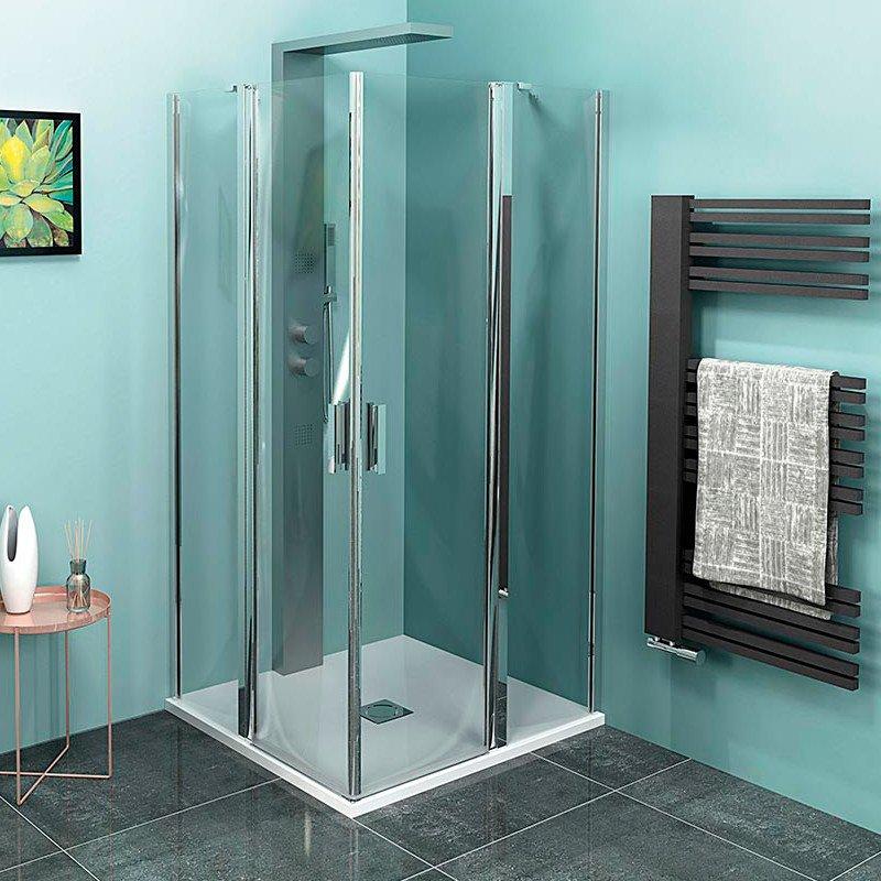 ZOOM LINE čtvercová sprchová zástěna 900x900mm, čiré sklo ZL5415