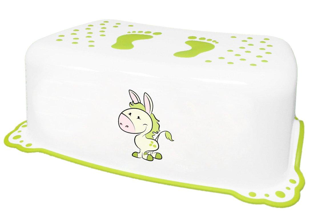 Dětské protiskluzové stupátko do koupelny Oslík, bílá 7426