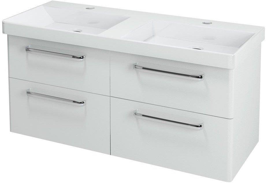 THEIA dvojumyvadlová skříňka 116x50x44,2cm, 4xzásuvka, bílá TH120