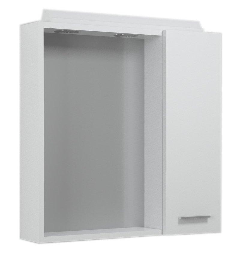 ZOJA/KERAMIA FRESH galerka s halogenovým osvětlením, 60x60x14cm, bílá, pravá 45022