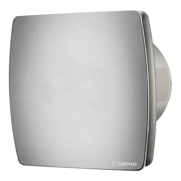 LEX koupelnový ventilátor axiální s časovačem, 15W, potrubí 100mm, nerez LX104