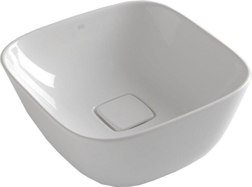 SOFT keramické umyvadlo 42,5x18,5x42,5 cm, na desku, bez přepadu W200701