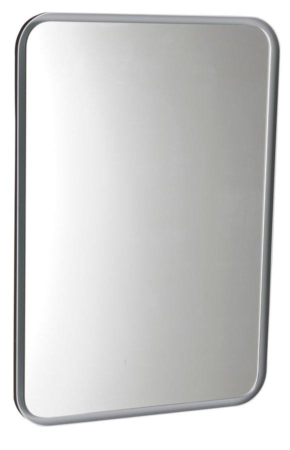 FLOAT zaoblené zrcadlo v rámu s LED osvětlením 500x700mm, bílá 22571