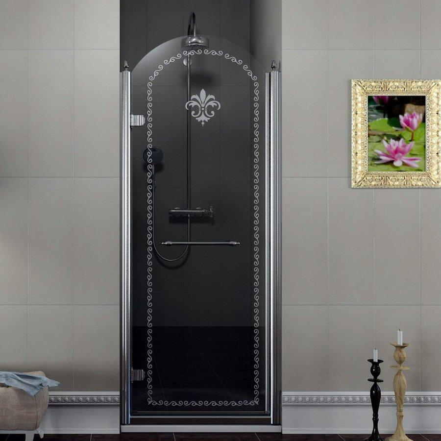 ANTIQUE sprchové dveře 800mm, levé, čiré sklo s dekorem, chrom GQ1580L